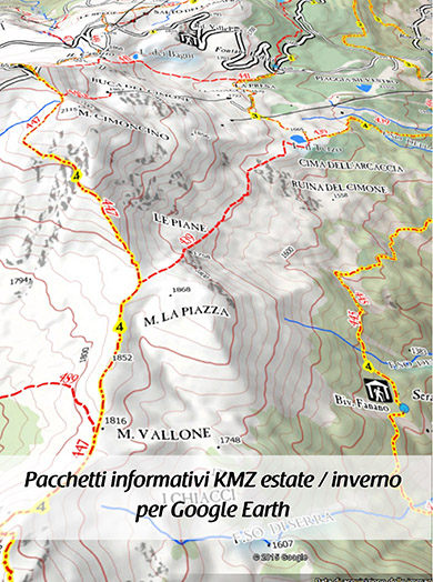 Pacchetti informativi per Google Earth - Boreal Mapping Around Cimone MTB