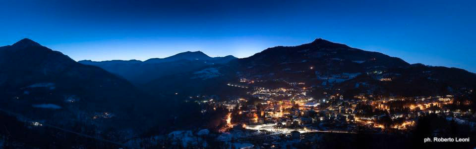 panoramica fanano neve notte